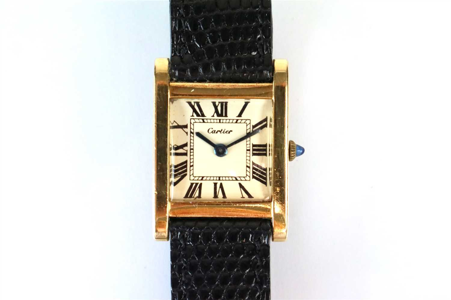 Lot 378-Cartier London Tank Normale