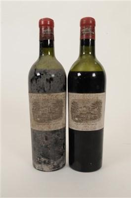 Lot 14-Chateau Lafite Rothschild 1953 2 bottles, 1 us, 1 ...
