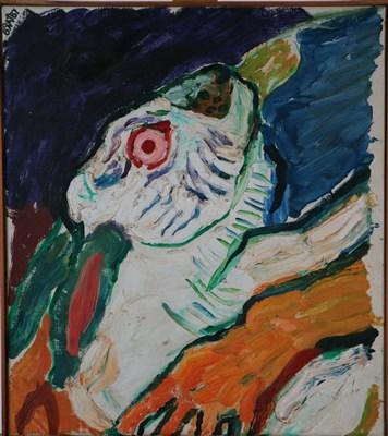 Lot 22-John Bratby RA (1928-1992), The Pet White Rabbit