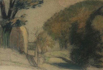 Lot 10-Sir William Rothenstein (1872-1945), A Country Lane