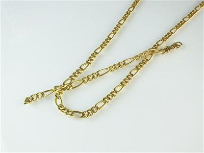 Lot 294-A flat curb link necklace and bracelet suite