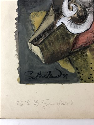 Lot 40-Graham Sutherland (1903-1980), Sea Wall ii