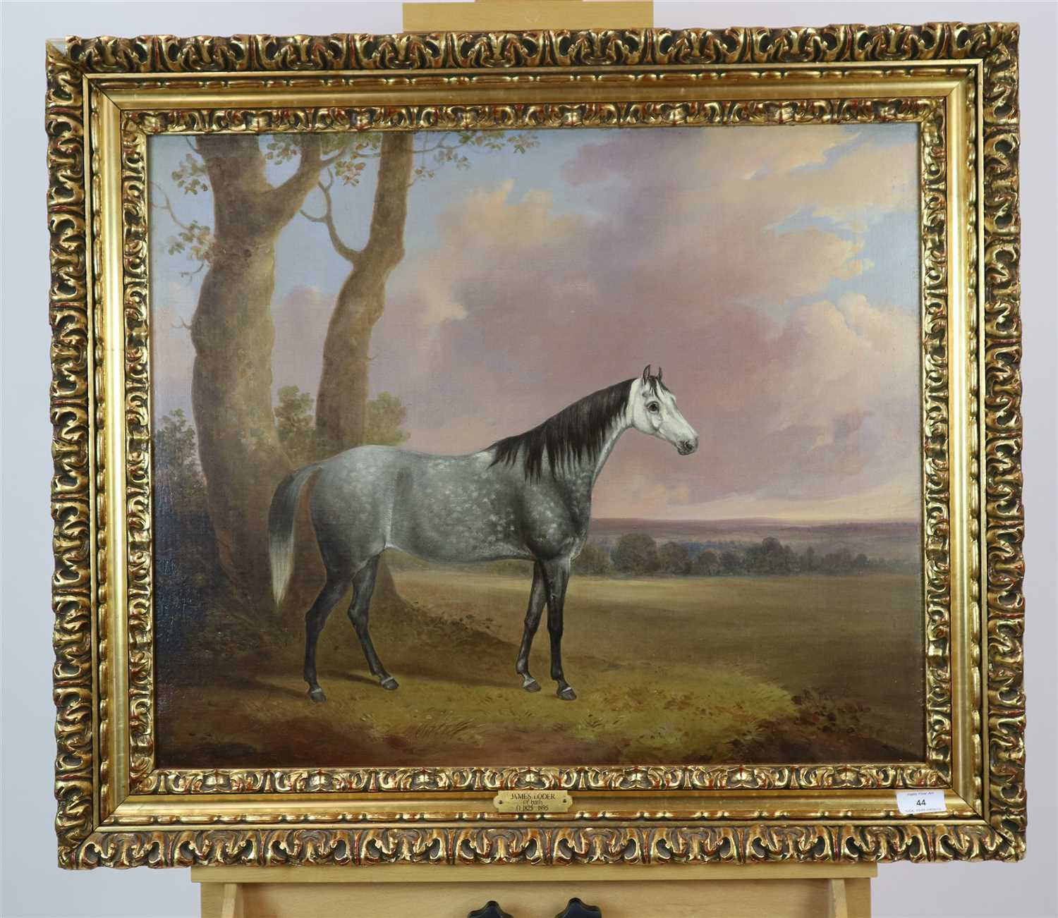 Lot 44-Follower of James Loder, horse portrait, oil