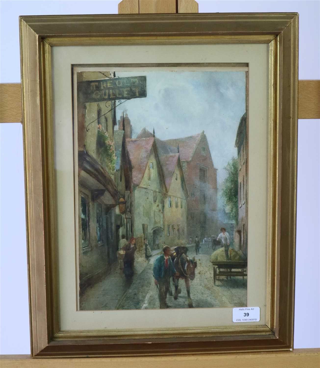 Lot 39-F Mercer, pair of watercolours of Shrewsbury