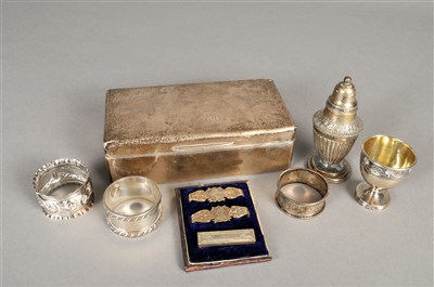 Lot 65-A small collection of silver