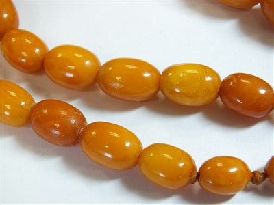 Lot 339-Two amber bead necklaces