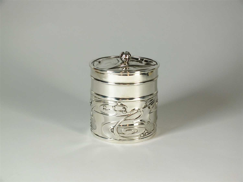 207 - An Art Nouveau silver dressing table box