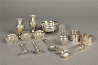 Lot 74-A small collection of silver