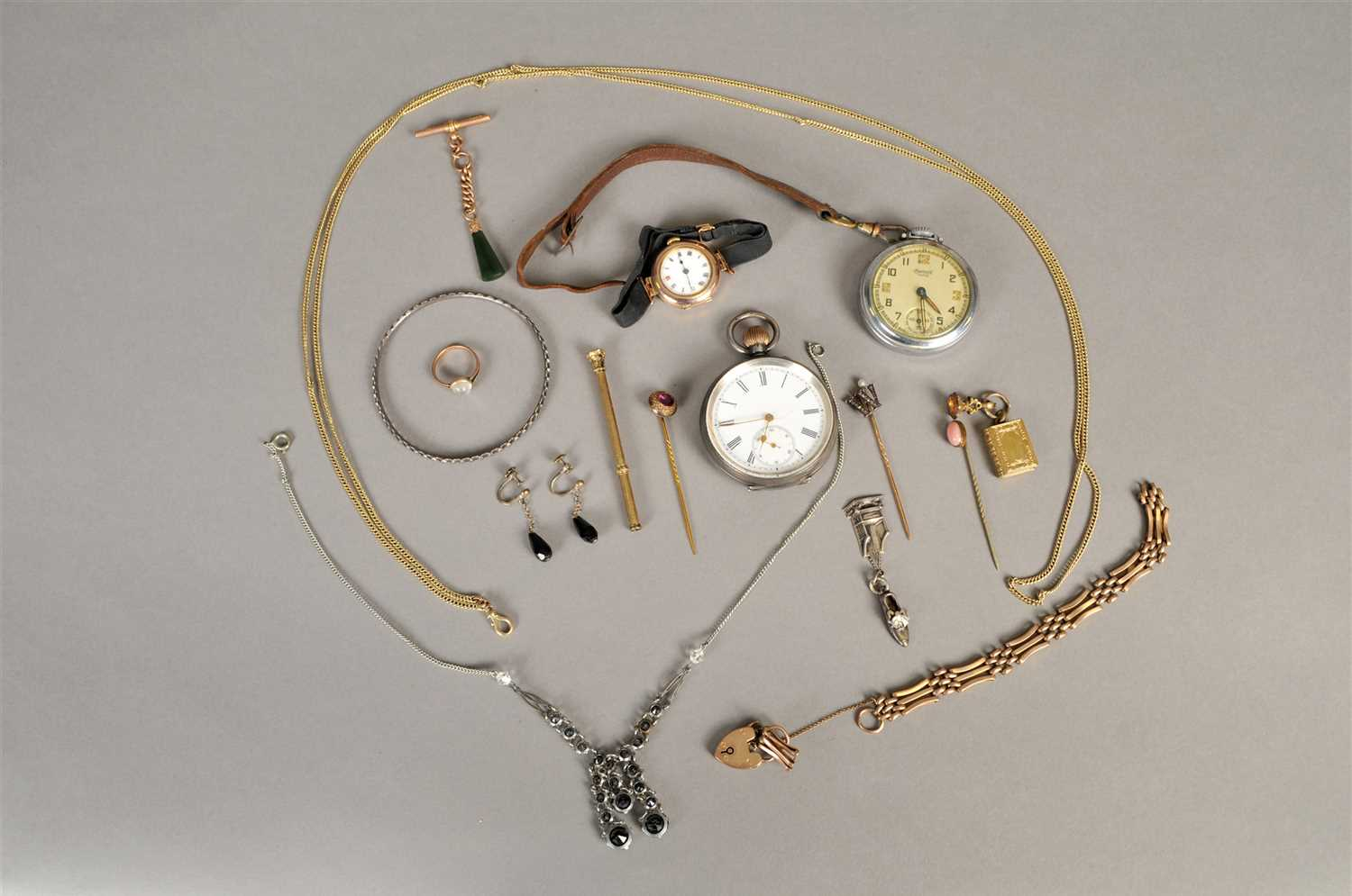 Lot 88-A small collection of jewellery and watches