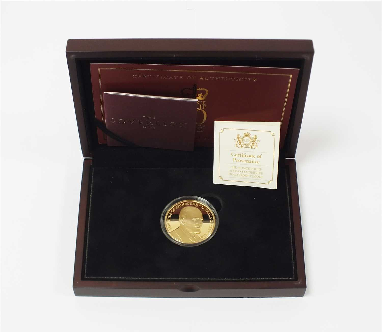 459 - Jersey, The Prince Philip 70 years of service gold proof £5 coin