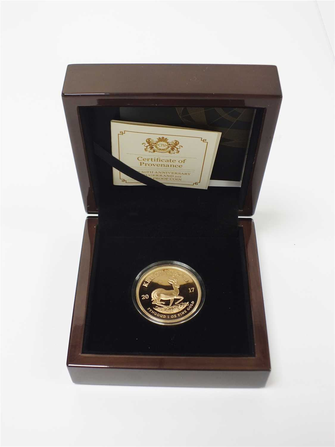 465 - South Africa 2017 50th Anniversary Krugerrrand 1 ounce gold proof coin