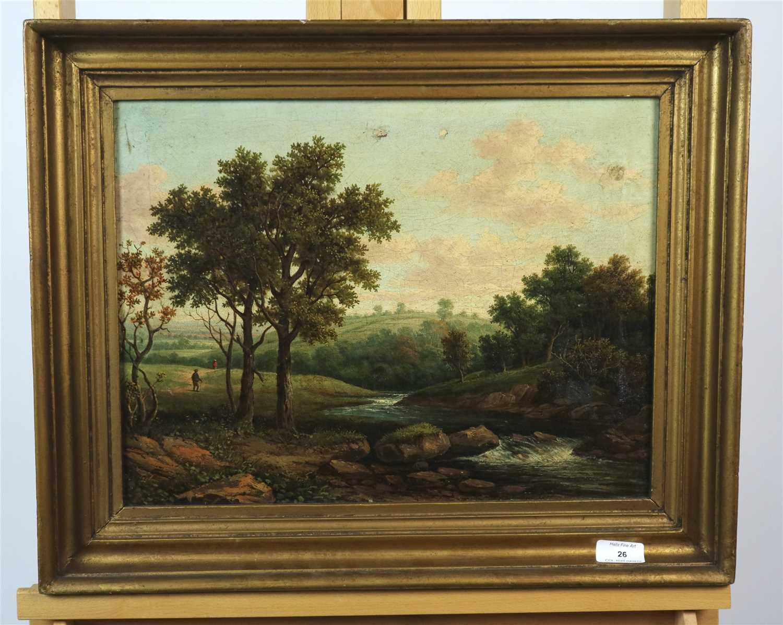 Lot 26-Landscape oil on canvas