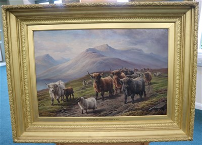 Lot 129-Charles Jones, oil on canvas