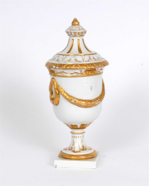 Lot 7-Furstenburg porcelain goblet and cover