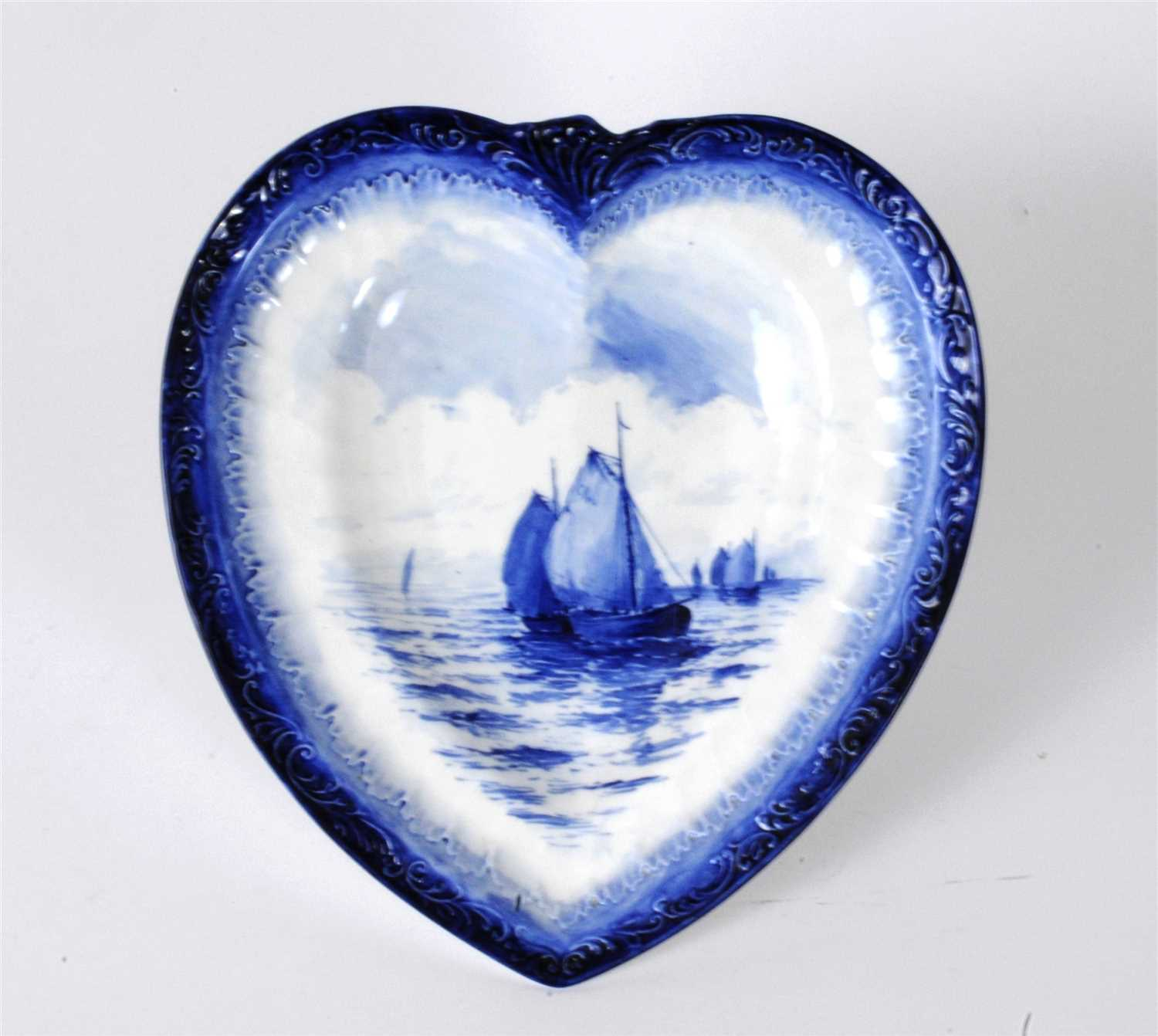 Lot 11-Royal Crown Derby heart-shape dish