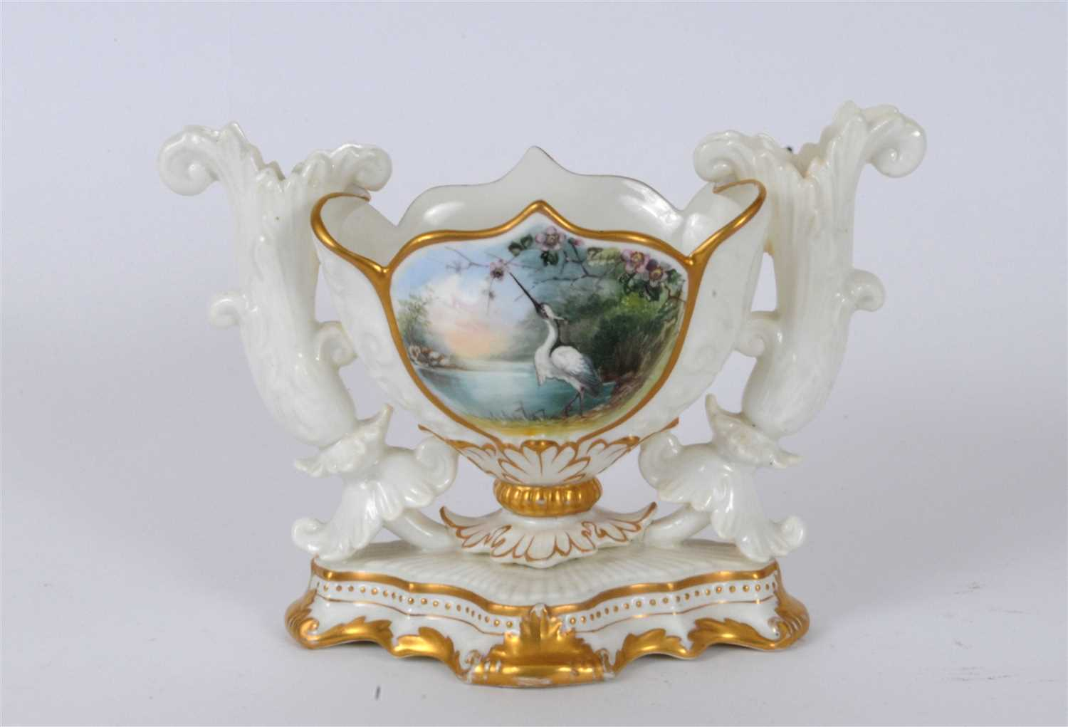 Lot 19-A small late Victorian table centrepiece