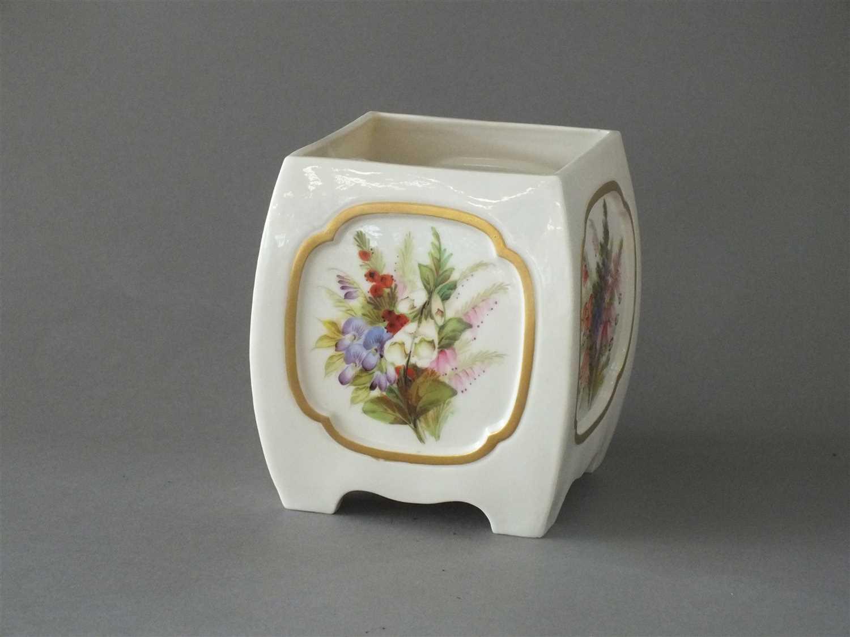 Lot 23-Royal Worcester rectangular vase