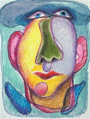 Lot 2-Akos Biro (1911-2001), Facial Study
