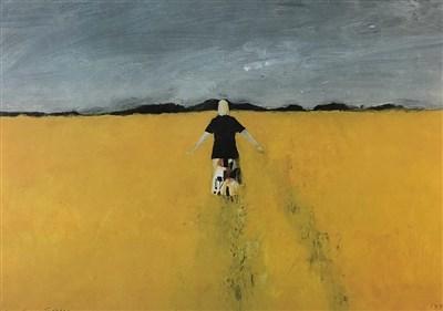 Lot 23-John Knapp Fisher (1931-2015), Girl in a Rape Field
