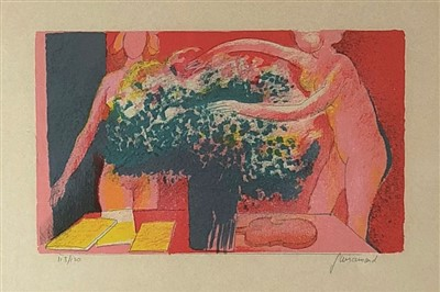 Lot 3-Paul Guiramand (1926-2007), Figures with Flowers