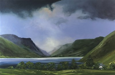 Lot 9-Celia De Grammont (Welsh Contemporary), Tal y Llyn Lake