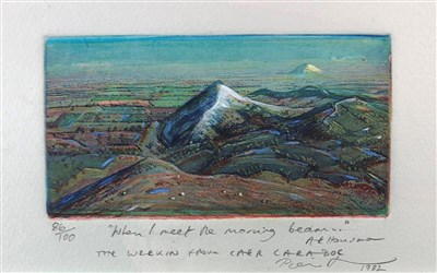 Lot 17-Piers Browne, The Wrekin from Caer Caradoc