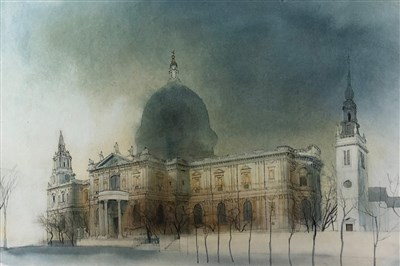 Lot 20-Hartley Ramsay (British school, 20th century), St Pauls Cathedral