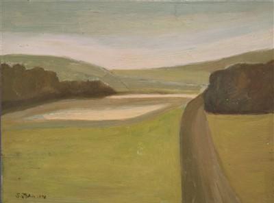 Lot 6-Sara John (Contemporary Welsh School b.1946), Dorset Field