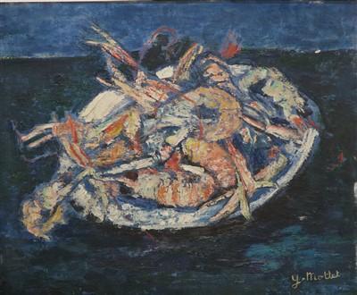 Lot 13-Yvonne Mottet (French,  Parisian School 1906-1968), Les Langoustines