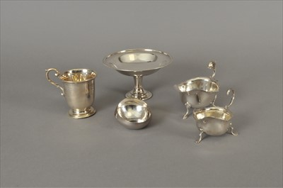 Lot 17-A small collection of silver