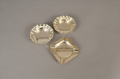 Lot 19-A pair of silver nut dishes