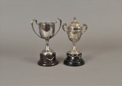 Lot 22-Two presentation trophy cups