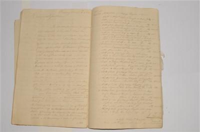 Lot 269-MANUSCRIPT. Copybook of letters sent by James...