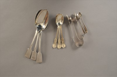 Lot 14-A collection of silver flatware