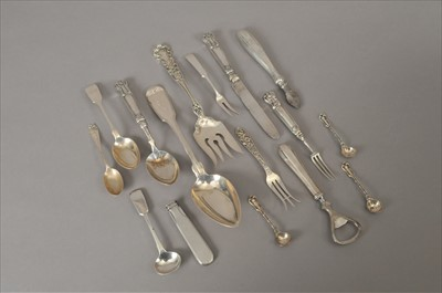 Lot 7-A small collection of American and British silver flatware