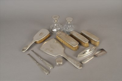 Lot 9-A collection of dressing table wares