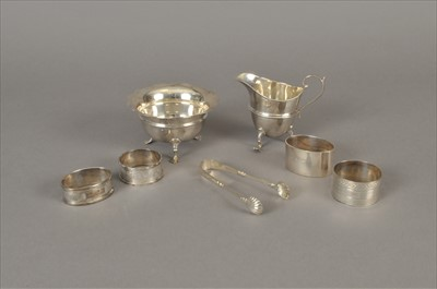 Lot 25-A small collection of silver