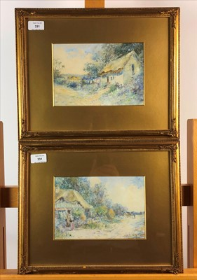 Lot 13-Leyton Forbes, a pair of rural landscapes