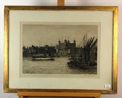 Lot 28-Charles Edward Holloway etching