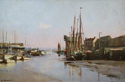 Lot 13-Matthew Alexander (British Contemporary), Low Tide Faversham Creek