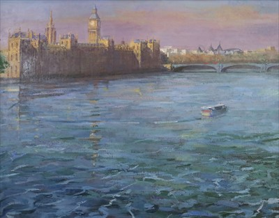 Lot 5-Bob Brown NEAC (British Contemporary), Palace of Westminster