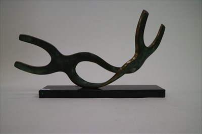 Lot 4-Two Bronze Abstract Sculptures