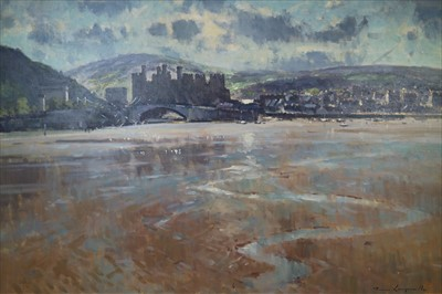 Lot 8-James Longueville RBSA PS (British Northern School) Conwy Castle