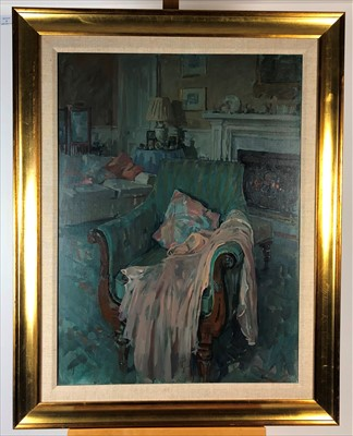 Lot 1-Susan Ryder RP NEAC (British Contemporary), The Lyre Chair