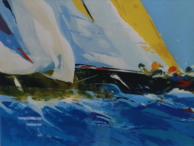 Lot 12-Donald Hamilton Fraser RA (British 20th Century, 1929-2009), Loose Spinnaker