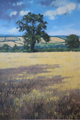 Lot 9-Neil Canning (British Contemporary, St. Ives School), Before the Harvest I