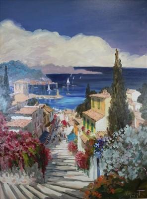 Lot 3-Vincent (French Contemporary), L'Escalier du Port, Riviera