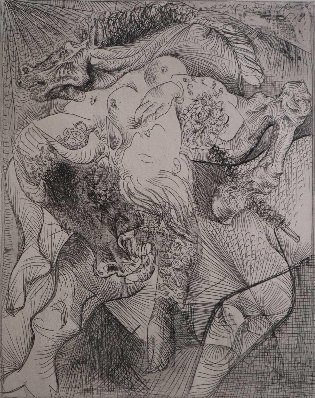 23 - Pablo Picasso (Spanish 20th Century, 1881-1973), Femme Torero II, Vollard Suite
