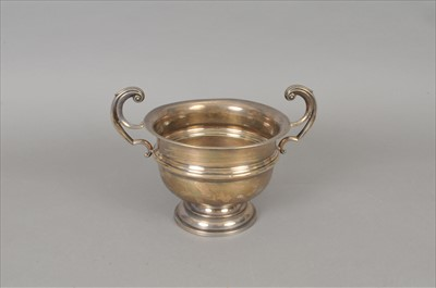 Lot 35-A two handled silver trophy cup