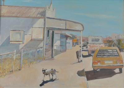 Lot 9-Neville Weston (British 20th-21st Century, 1936-2017), Street Scene
